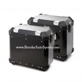 Panniers Black (Left + Right Bags) for R1200GS 2004-2012 LOCKS + MOUNTS